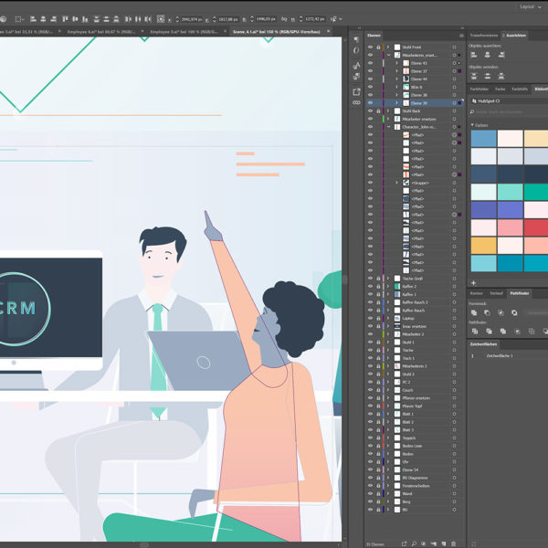 Hubspot CRM Interface Illustrator