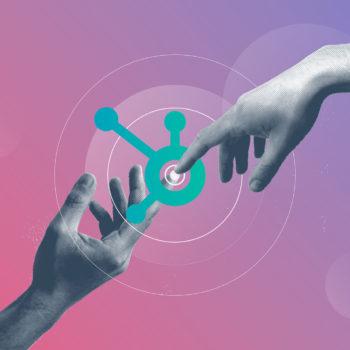 social media, hubspot, still, hand, logo