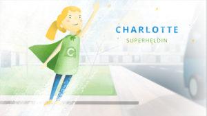 Charlotte springt in die Luft