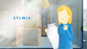 Mutter Sylwia hilft beim Umzug