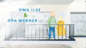 Oma Ilse und Opa Werner auf dem Balkon