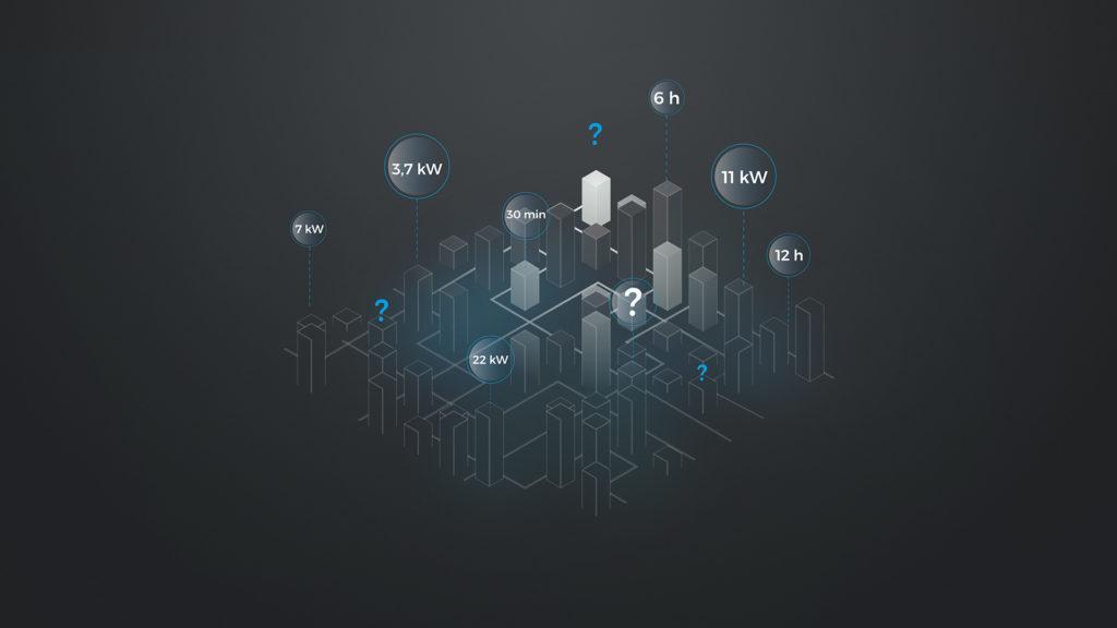 Infographic einer Stadt im Präsentationsfilm für HTP