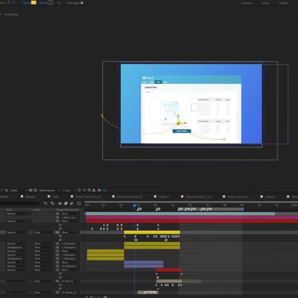 Plunet After Effects Screenshot