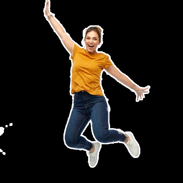 Asset Echt Kuhl Woman jumps